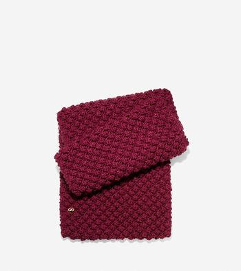 Popcorn Stitch Infinity Scarf