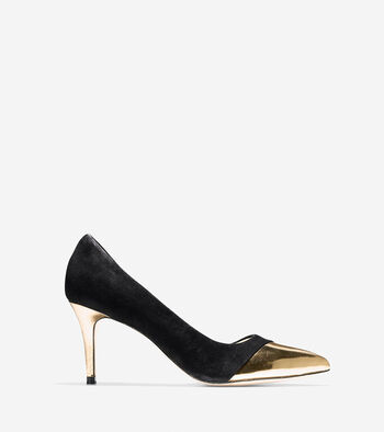 Highline Cap Toe Pump (75mm) - Pointy Toe