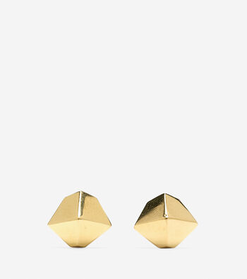 Faceted Metal Stud Earring