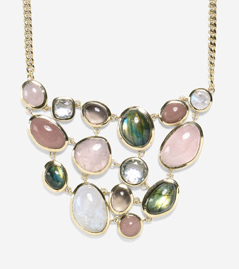 "17"" Semi-Precious Drama Bib Necklace"