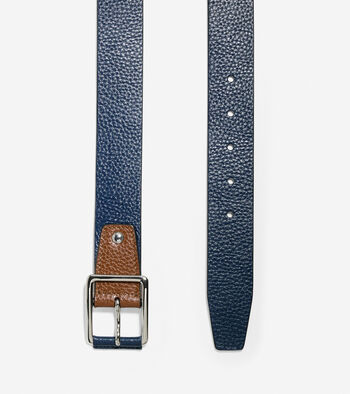 35mm Contrast Leather Belt