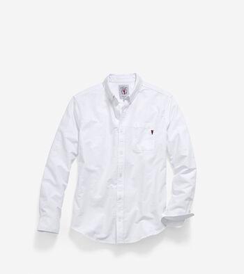 Men's Pinch Long Sleeve Oxford Pocket Shirt