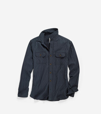 Men's Pinch Long Sleeve Quilted Shirt