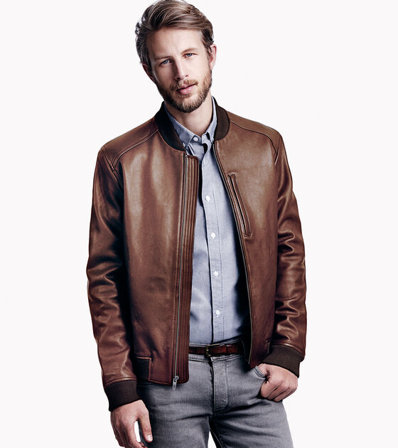Outerwear > Varsity Leather Baseball Jacket