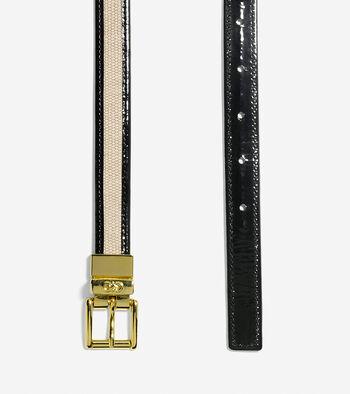 Canvas-Leather Trim Belt