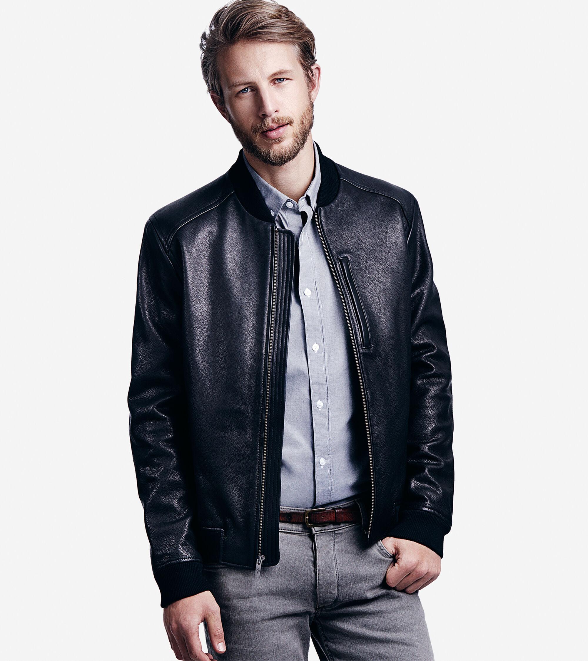 Outerwear > Varsity Leather Baseball Jacket