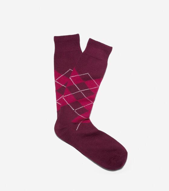 Wide Argyle Socks