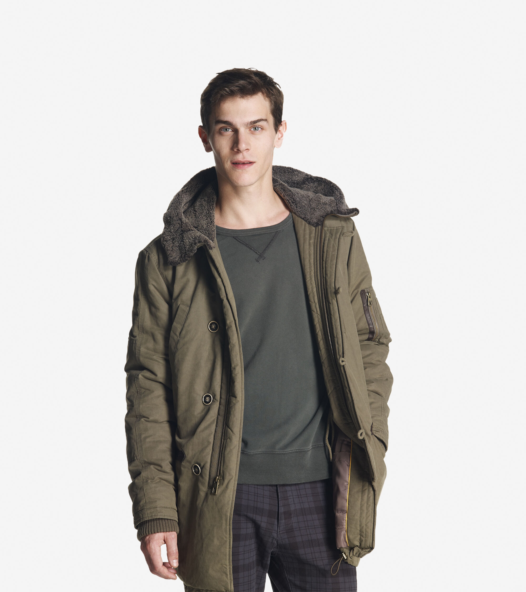 Outerwear > Waxed Cotton Parka