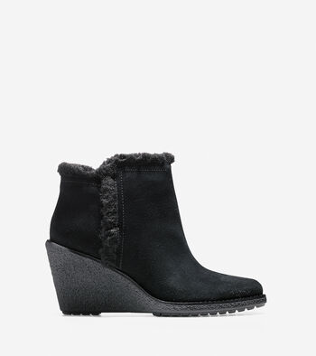 Michelle Shearling Waterproof Short Boot (55mm)