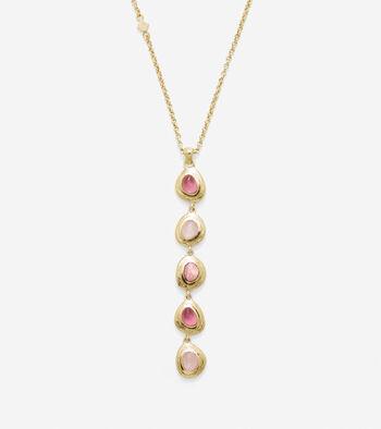 Linear Semi-Precious Necklace
