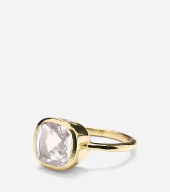 Cushion Cut Semi Precious Ring