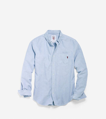 Men's Pinch Long Sleeve Chambray Pocket Shirt