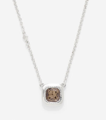 Cushion Cut Swarovski Pendant Necklace