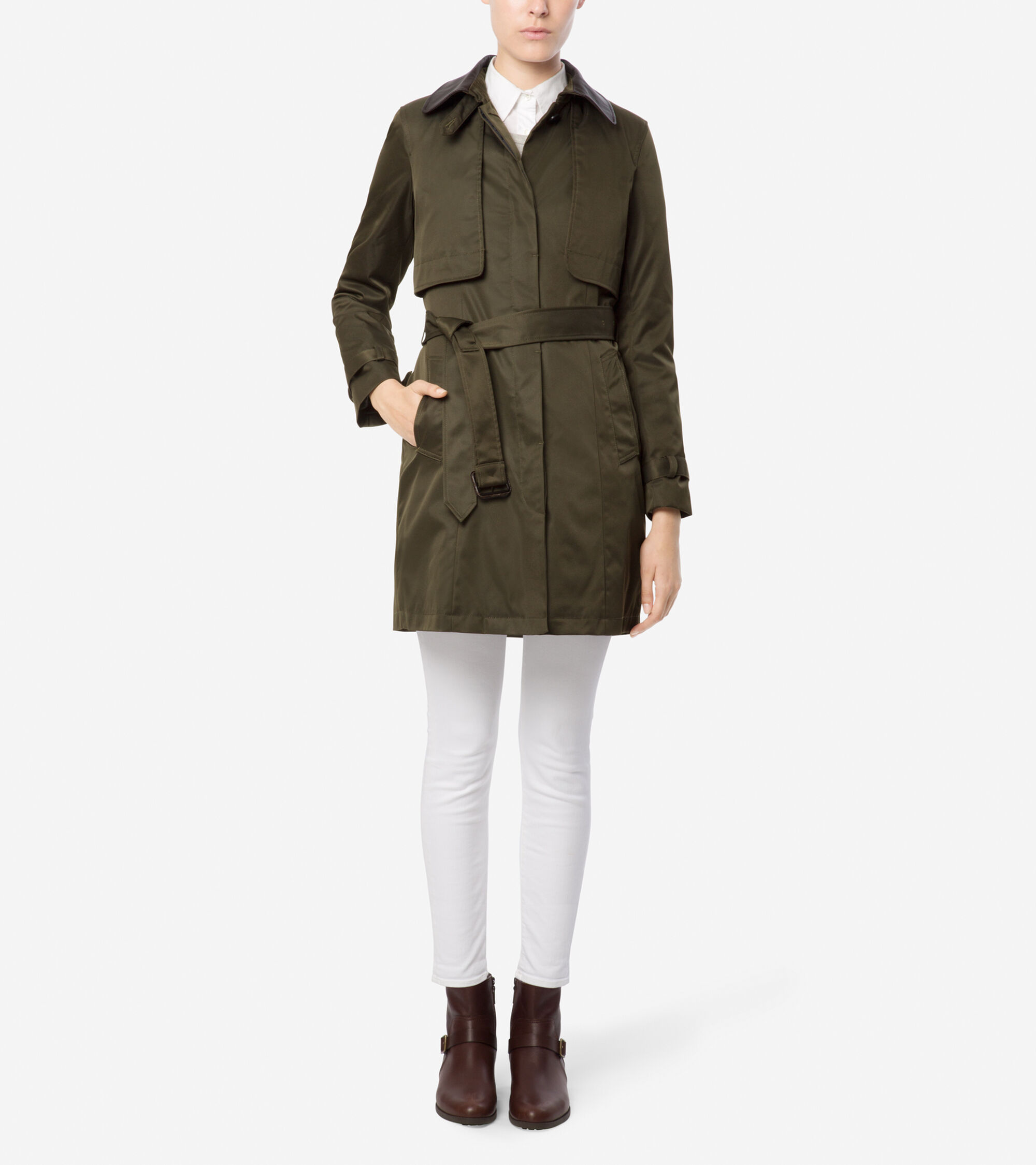 Outerwear > City Rainwear Single Breasted Trench