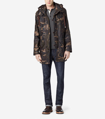 Washed Camo Military Parka