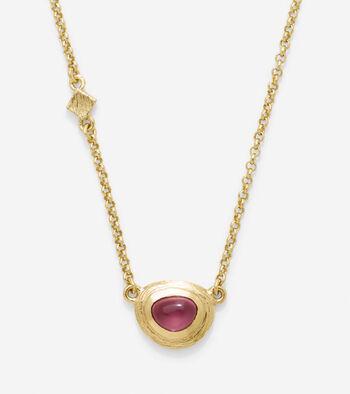 Dainty Semi-Precious Pendant Necklace
