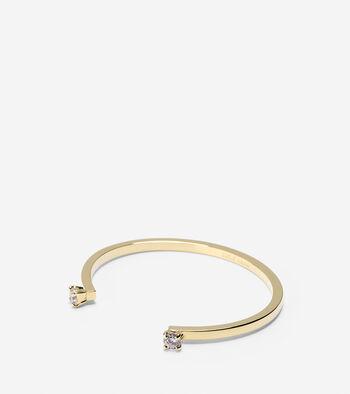 CZ Open Cuff Bracelet