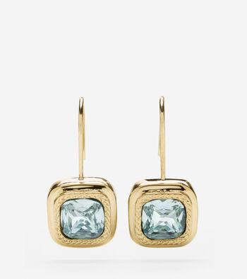 Square Swarovski Drop Earring