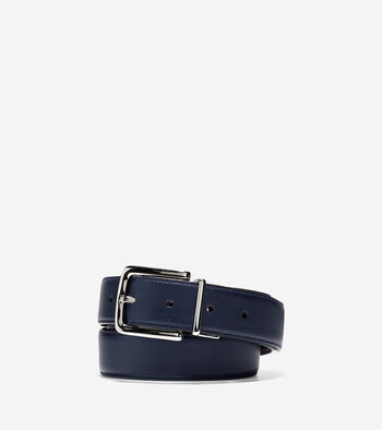 32mm Reversible Stitched Leather Belt