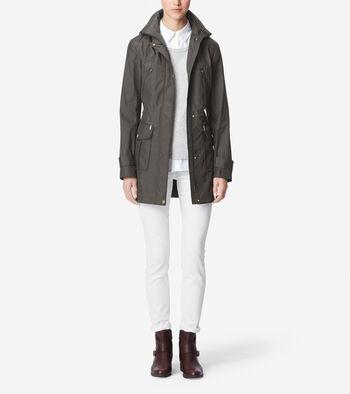 Travel Packable Rain Coat With Hood