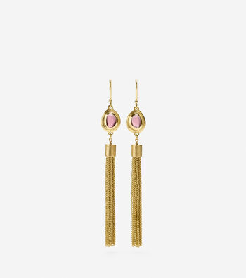 Tassel & Stone Drop Earring