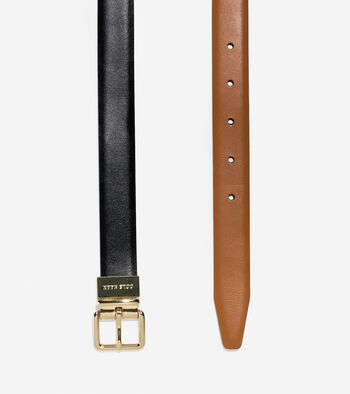 Reversible Feather Edge Leather Belt