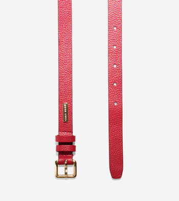 20mm Pebbled Leather Belt