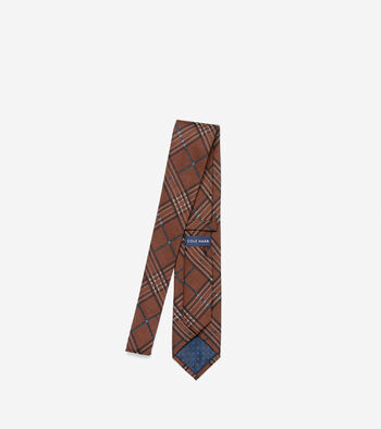 Benson Printed Plaid Tie