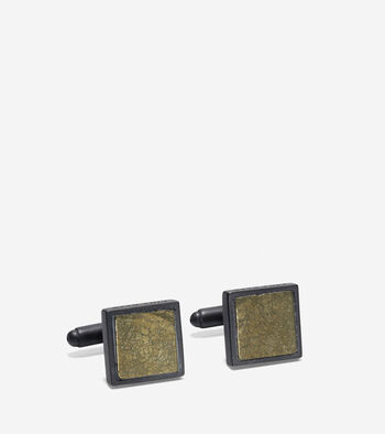 Semi-Precious Square Cuff Links