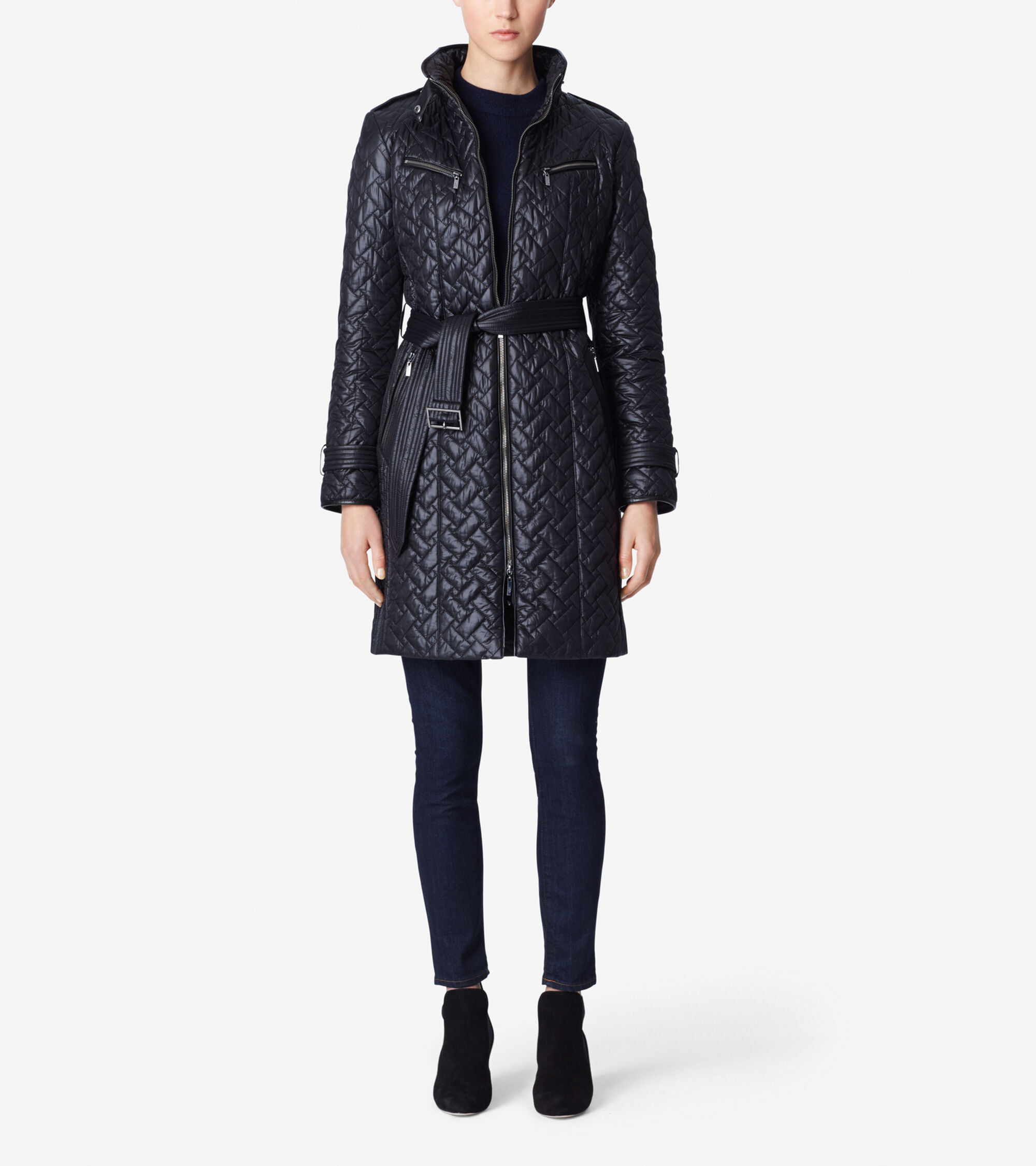 Outerwear > Signature Quilt Belted Coat