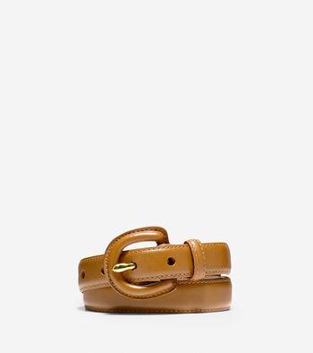 Feather Edge Leather Belt
