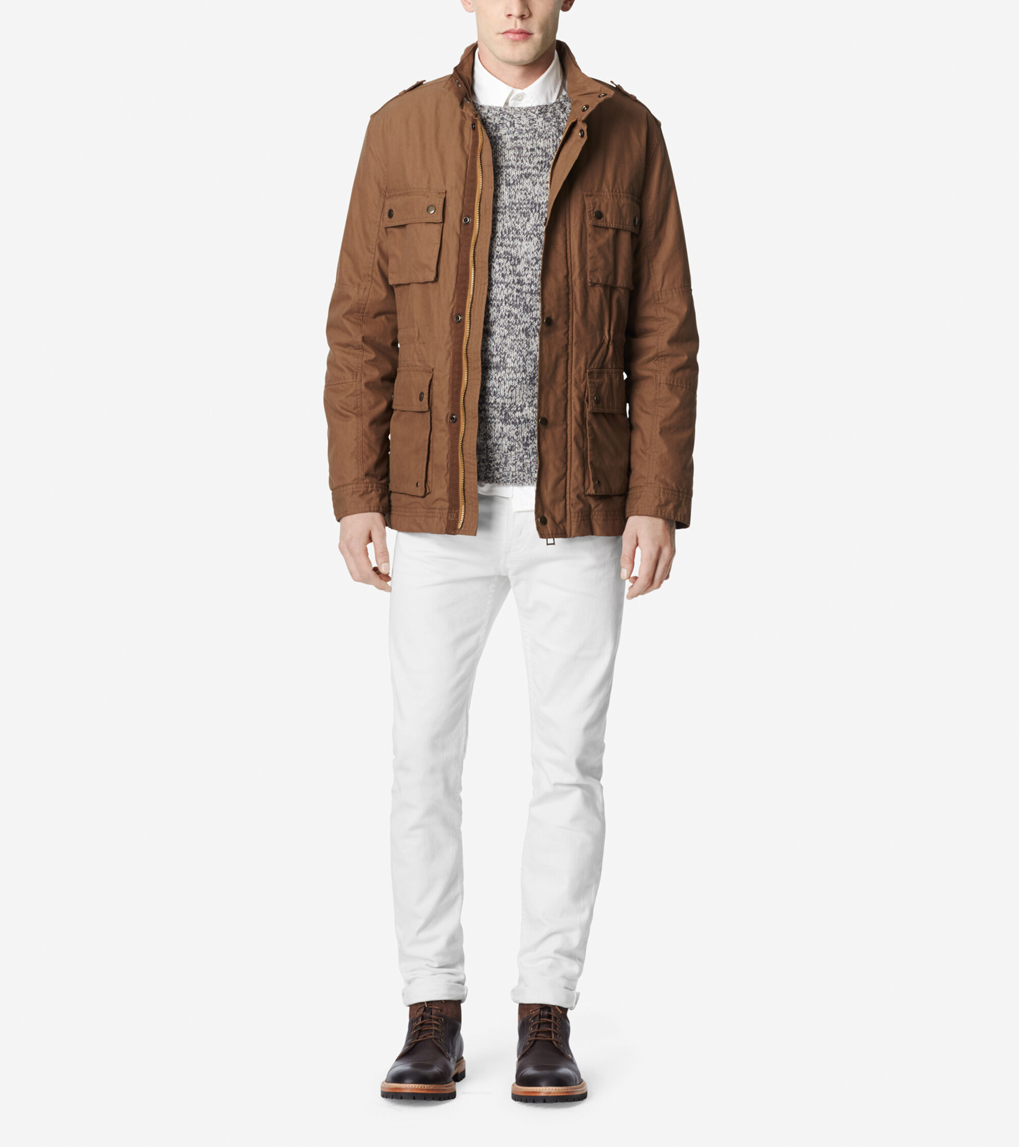 Outerwear > Brushed Twill Utility Jacket