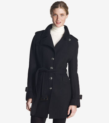 Soft Wool Twill Coat