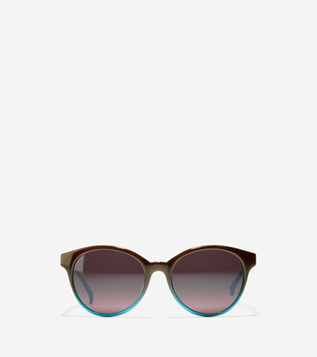 Round Acetate Cateye Sunglasses