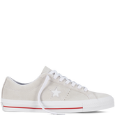 CONS One Star Pro Egret/White/Red