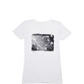 Womens Heart Photo Tee Optic White
