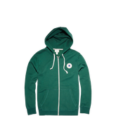 Mens Chuck Taylor Patch Full Zip Hoodie Gloom Green