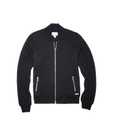 Womens Quilted Bomber Jacket Black