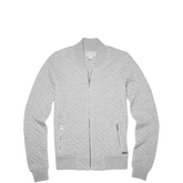 Womens Quilted Bomber Jacket Vintage Grey Heather