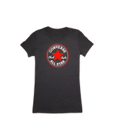 Womens Heathered Chuck Taylor Patch Tee Black