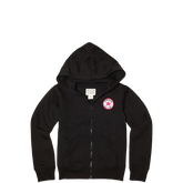 Girls Zip Hoodie 6-12 Yrs Black
