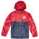 Boys Colorblock Anorak Jacket 6-12 Yrs Red