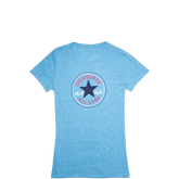 Womens Heathered Chuck Taylor Patch Tee Cyan Space Heather