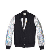 Womens Oil Slick Bomber Jacket Black