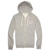 Mens Chuck Taylor Patch Full Zip Hoodie Vintage Grey Heather