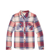 Womens Plaid Long Sleeve Shirt Brake Light