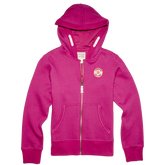 Girls Chuck Taylor Patch Full Zip Hoodie 6-12 Yrs Pink Sapphire
