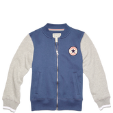 Boys Color Block Varsity Jacket Converse Navy