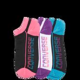 Womens Flat Knit Logo Sock 3 Pk  Multi