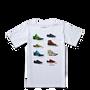 Boys Stacked Sneaker Tee Yth 6-12 Yrs Bright White